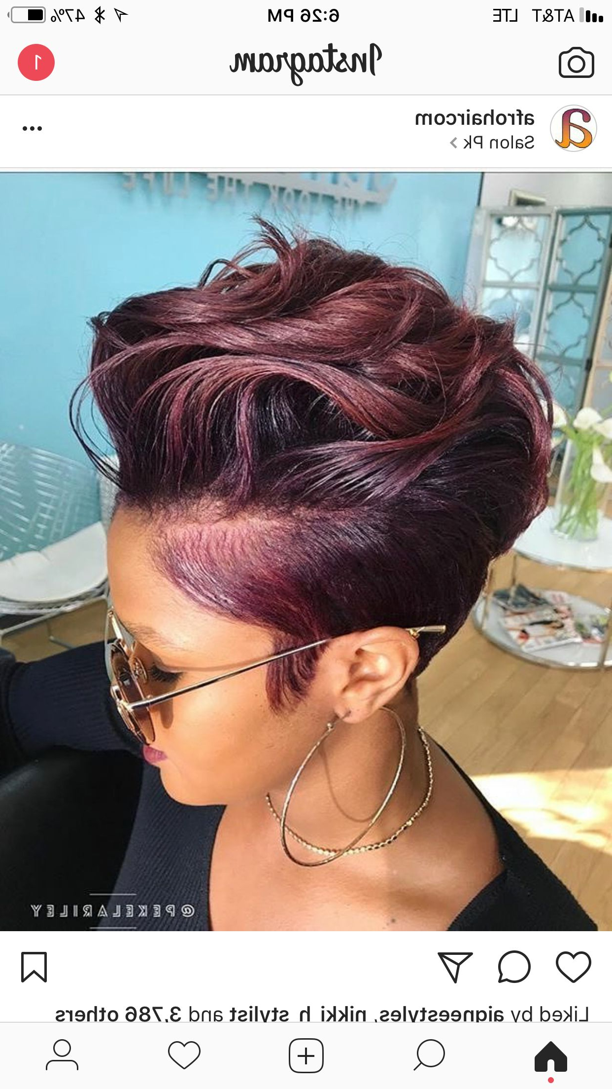 Bold N Burgundy This Cut Is Life | Love That Hair & Make Up!!! In Pertaining To Burgundy Short Hairstyles (View 3 of 25)