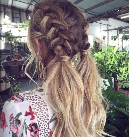 Boxer Braids With Loose Ends Is A Fresh Take On The Trend With Regard To Beach Friendly Braided Ponytails (View 12 of 25)