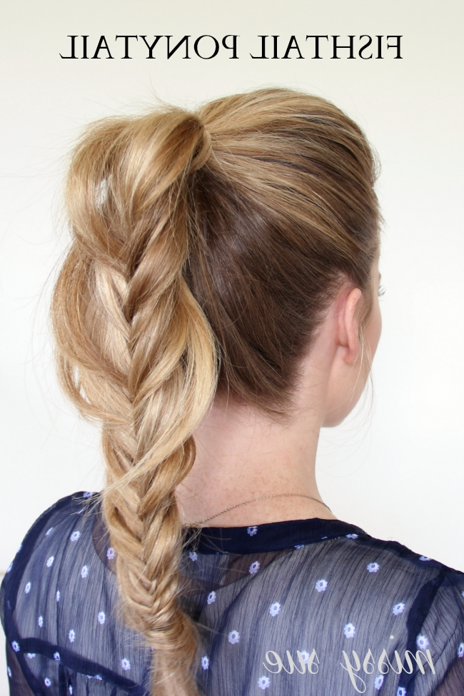 Braid 7 Fishtail Ponytail Intended For Fishtail Braid Ponytails (View 7 of 25)