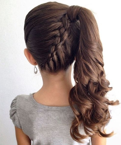 Braid Hairstyles For Kids Throughout Cute And Carefree Ponytail Hairstyles (View 12 of 25)
