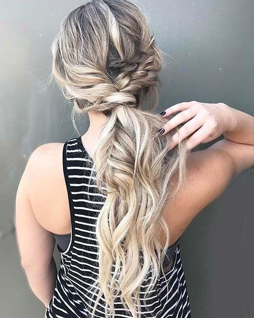 Braided Boho Ponytail For Elegant Ponytail Hairstyles | Medium Hair For Long Elegant Ponytail Hairstyles (View 17 of 25)