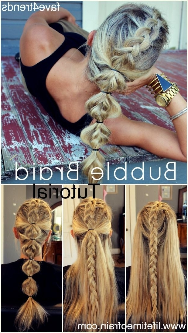 Braided Bubble Poytail | Bohemian Hair And Beauty | Pinterest | Hair In French Braid Ponytail Hairstyles With Bubbles (View 10 of 25)