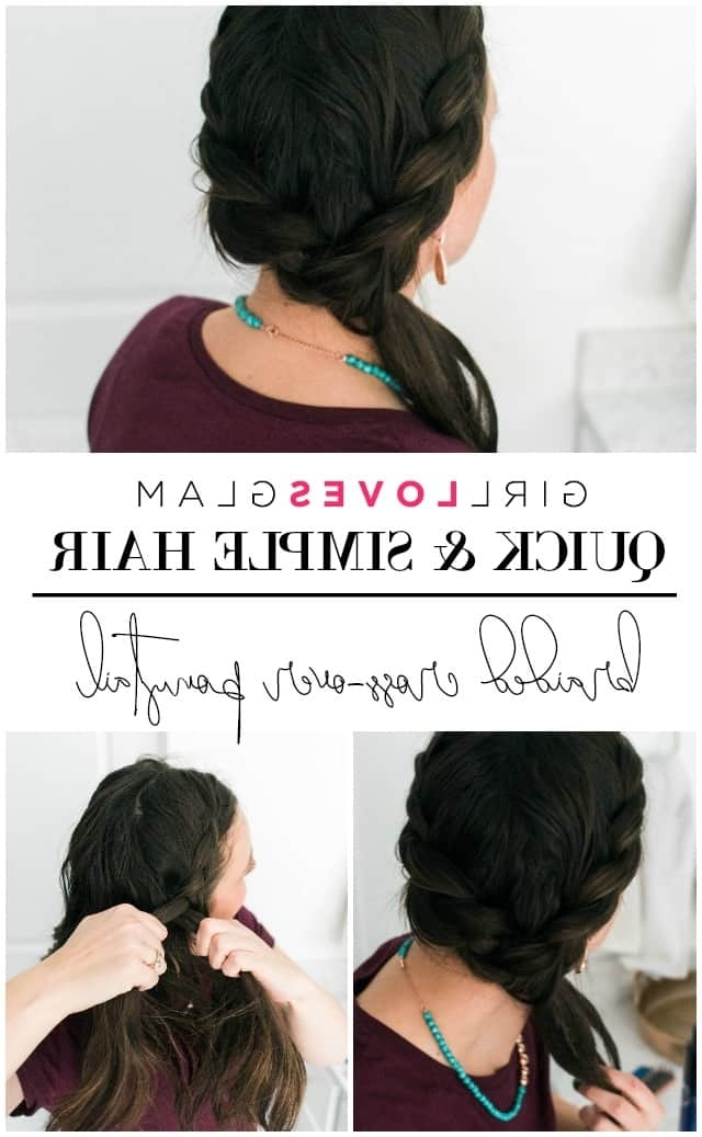 Braided Cross Over Ponytail | Quick And Simple Hair – Girl Loves Glam For Braided Glam Ponytail Hairstyles (View 16 of 25)