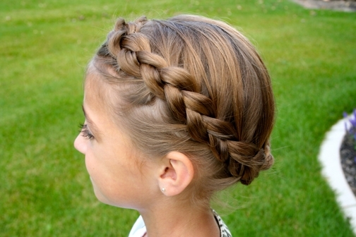 Braided Crown | Updo Hairstyles | Cute Girls Hairstyles For Wavy Side Ponytails With A Crown Braid (View 20 of 25)