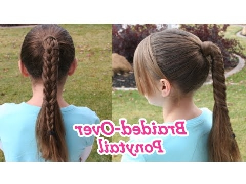 Braided Over Ponytail | Cute Girls Hairstyles – Youtube With Twin Braid Updo Ponytail Hairstyles (View 21 of 25)
