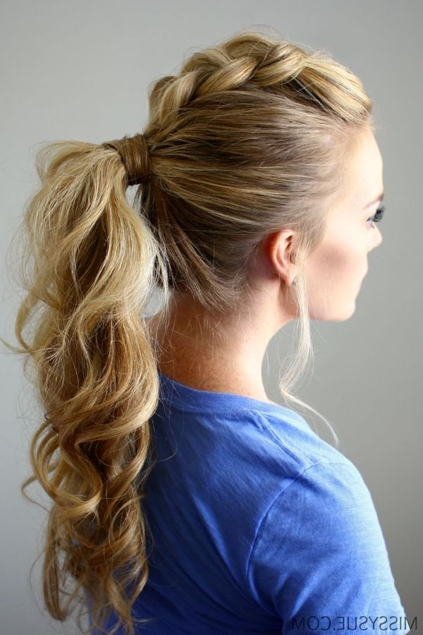 Braided Ponytail Hairstyles, Hair Braided Into A Ponytail Pictures Pertaining To Pretty Plaited Ponytails (View 23 of 25)