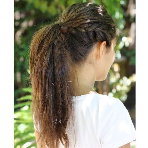 Braided Ponytail Hairstyles, Hair Braided Into A Ponytail Pictures With Side Braid Ponytails For Medium Hair (View 22 of 25)
