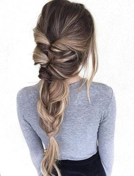 Braided Ponytail Hairstyles Ideas For This Spring 2018 | Braided Inside Artistically Undone Braid Ponytail Hairstyles (View 5 of 25)