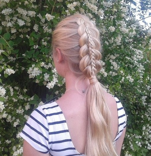 Braided Ponytail Ideas: 40 Cute Ponytails With Braids | Blonde Pertaining To Blonde Ponytails With Double Braid (View 2 of 25)