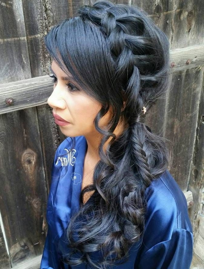 Braided Ponytail Ideas: 40 Cute Ponytails With Braids | Plaited Intended For Wavy Side Ponytails With A Crown Braid (View 17 of 25)