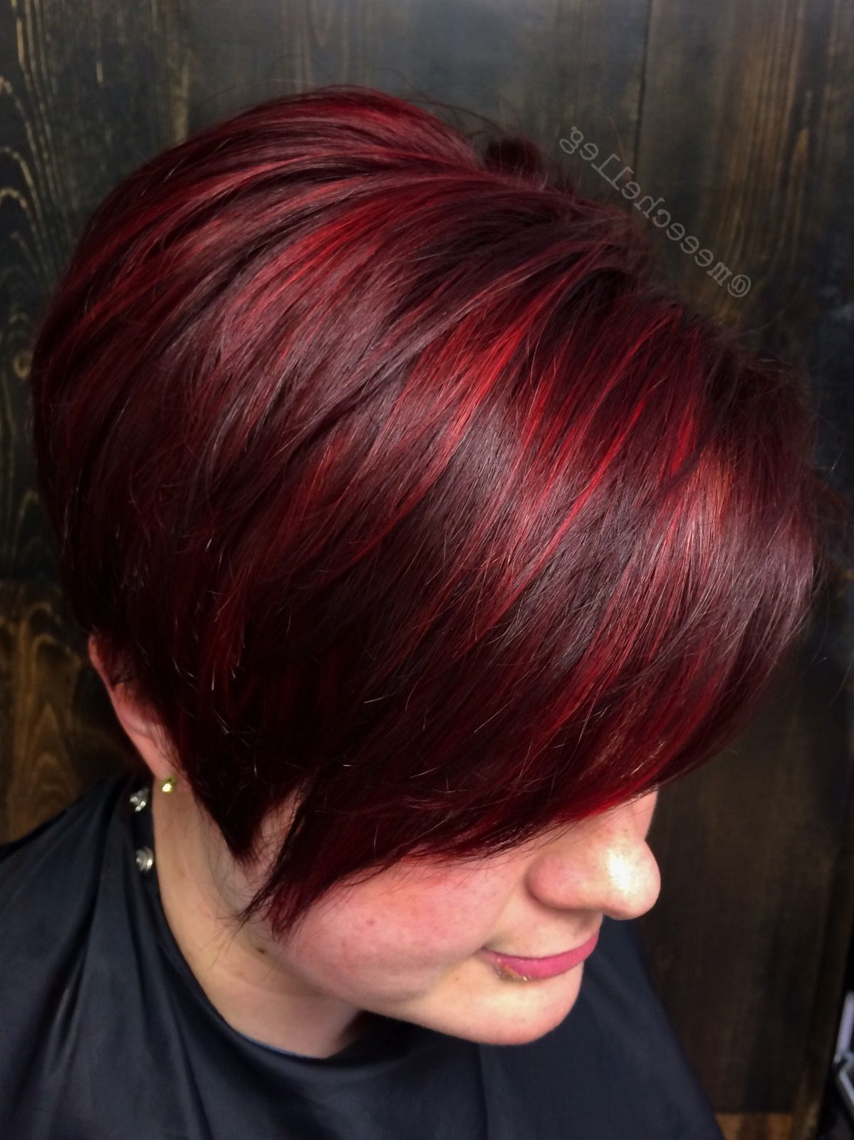 Bright Red, Red Highlights, Stand Out Red, Candy Apple Red, Short Pertaining To Bright Red Short Hairstyles (View 2 of 25)