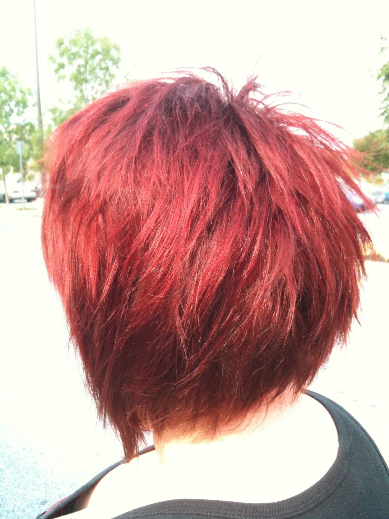 Bright Red Short And Piecy Hair   Hair Styles   Pinterest   Red Within Bright Red Short Hairstyles (View 5 of 25)