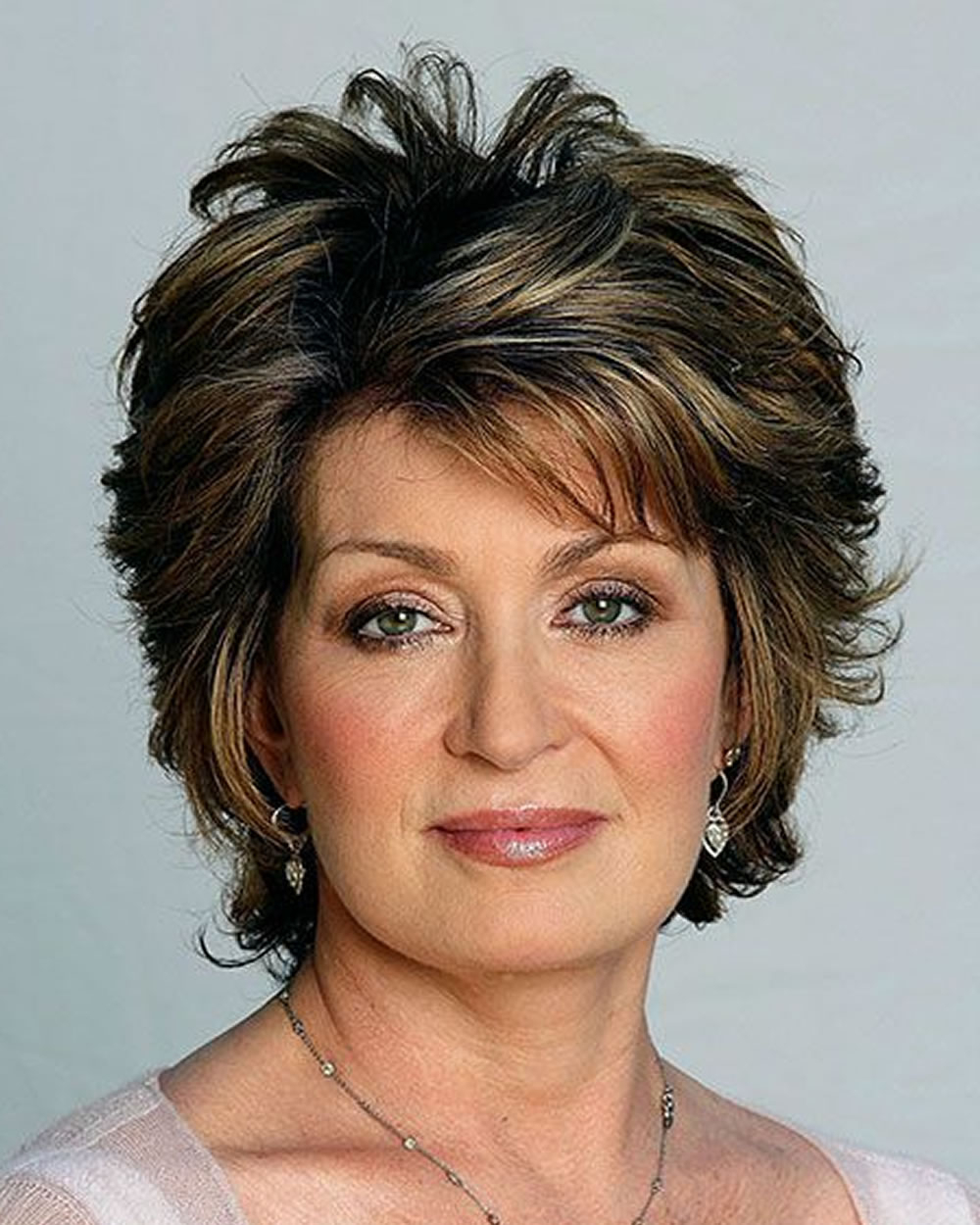 Brown Balayage Short Hair For Older Women – Hairstyles Inside Older Women Short Haircuts (View 24 of 25)