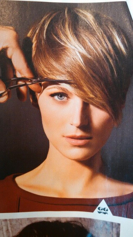 Brown Pixie With Blonde Highlights | Hair Envy In 2018 | Pinterest For Pixie Bob Hairstyles With Golden Blonde Feathers (View 2 of 25)