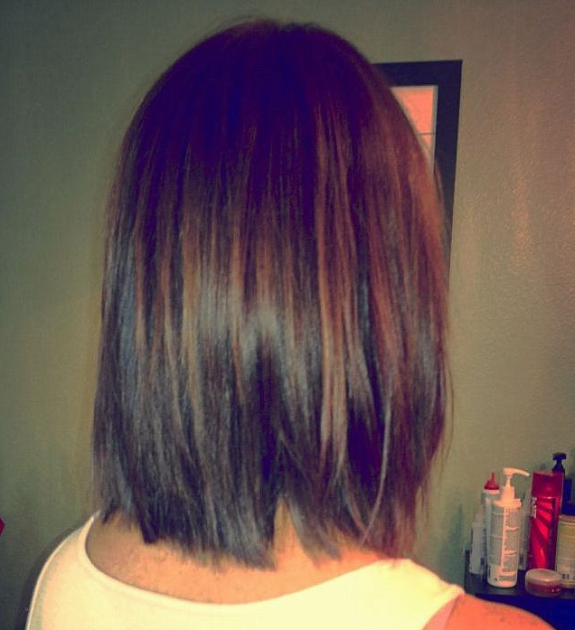 Brunette Graduated Bob With Chocolate Brown Pm The Color / Kerry Regarding Modern Chocolate Bob Haircuts (View 24 of 25)