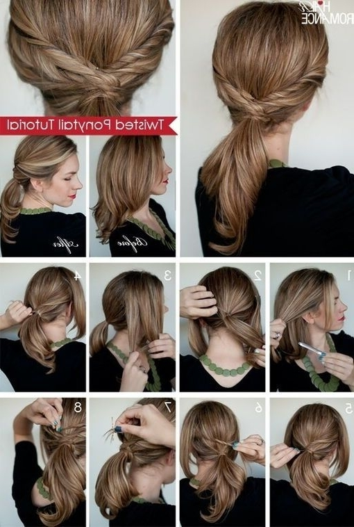 Buat Sedikit Kepang | Gaya Rambut Simpel | Pinterest | Twist Pertaining To Tangled And Twisted Ponytail Hairstyles (View 23 of 25)