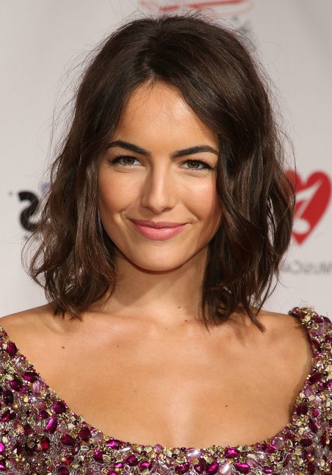Camilla Belle Haircut – Edgy Tousled Medium Bob Hairstyle For Inside Tousled Wavy Bob Haircuts (View 11 of 25)