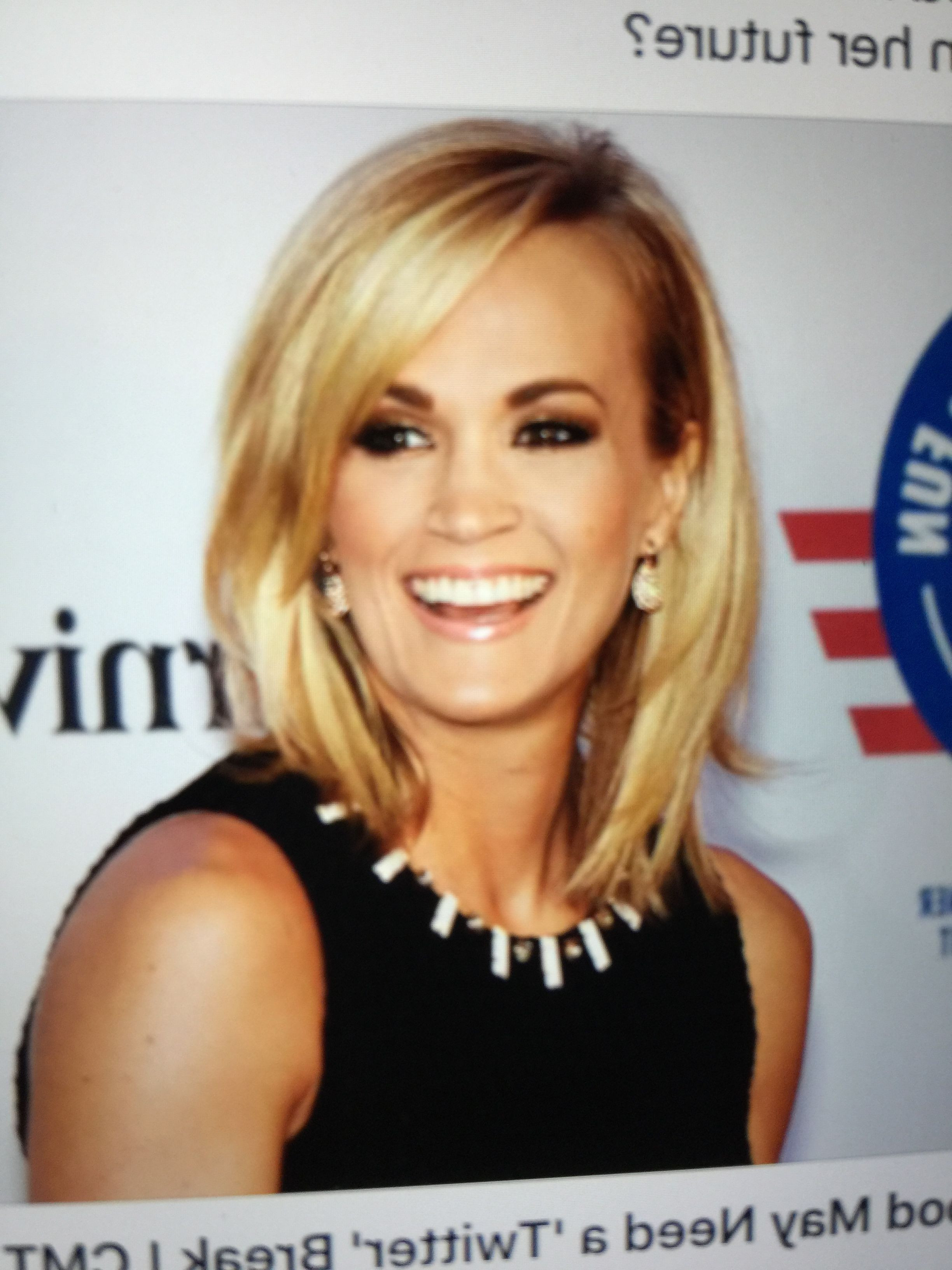 Carrie Underwood Short Hairstyles Best Of Pinlinda Mulroy On Pertaining To Carrie Underwood Short Haircuts (View 24 of 25)