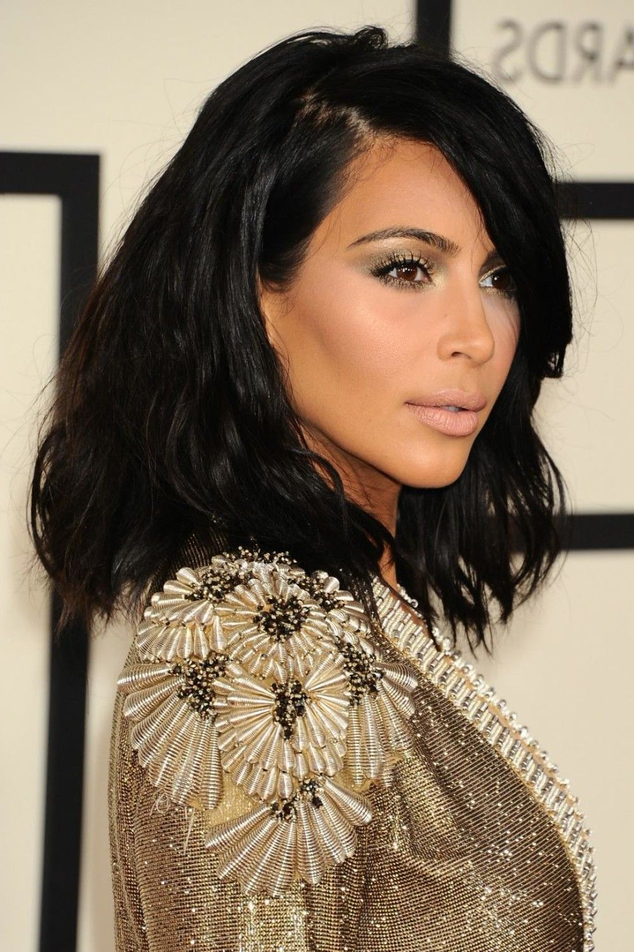 Celebrity Hairstyles: New Short Hairstyle Kim Kardashian At Grammy With Kim Kardashian Short Hairstyles (View 4 of 25)