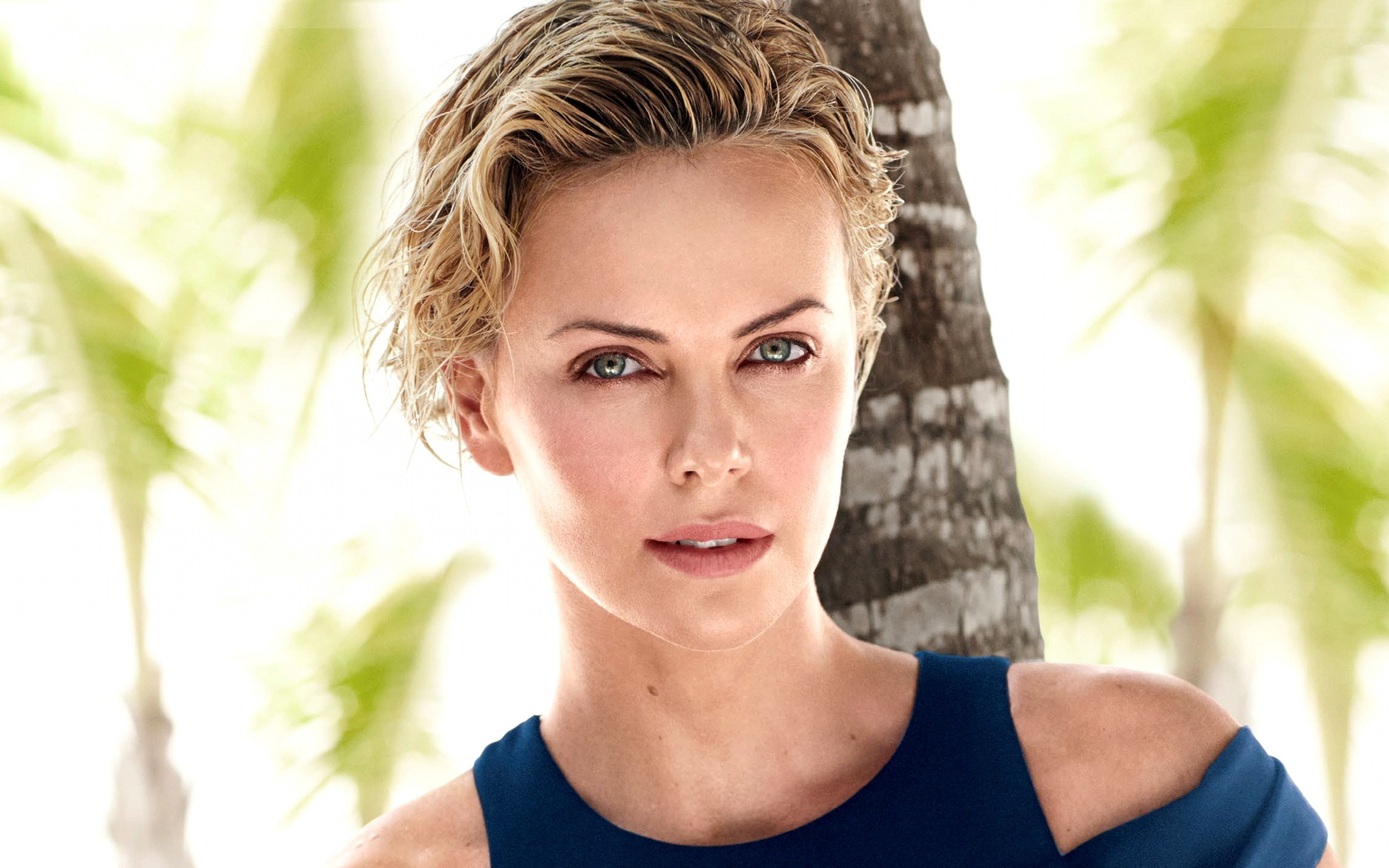 Charlize Theron, #actress, #blonde, #green Eyes, #women, #short Hair Intended For Charlize Theron Short Haircuts (View 24 of 25)