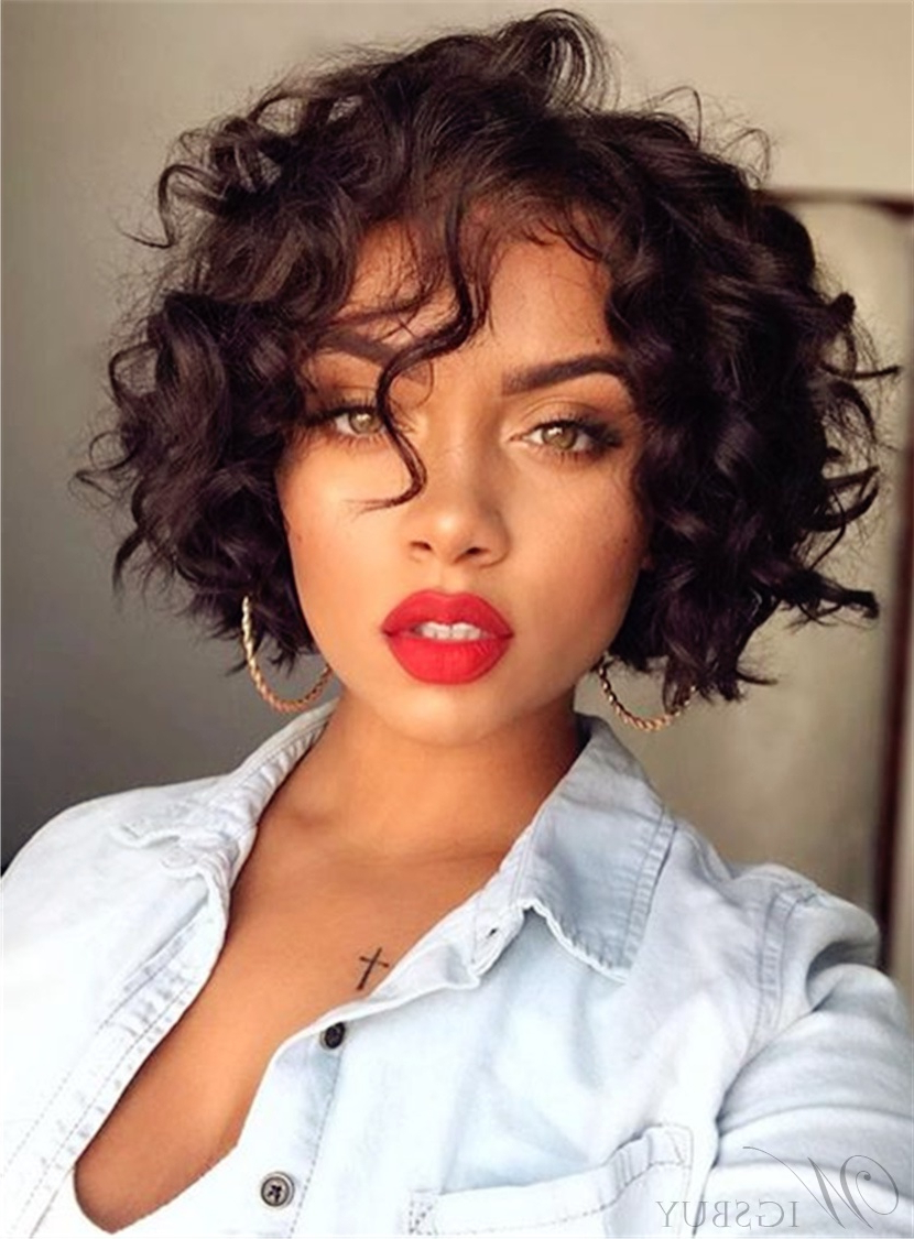 Cheap Curly African American Wigs Discount Curly Wigs For Black Pertaining To Bob Short Hairstyles For Black Women (View 23 of 25)