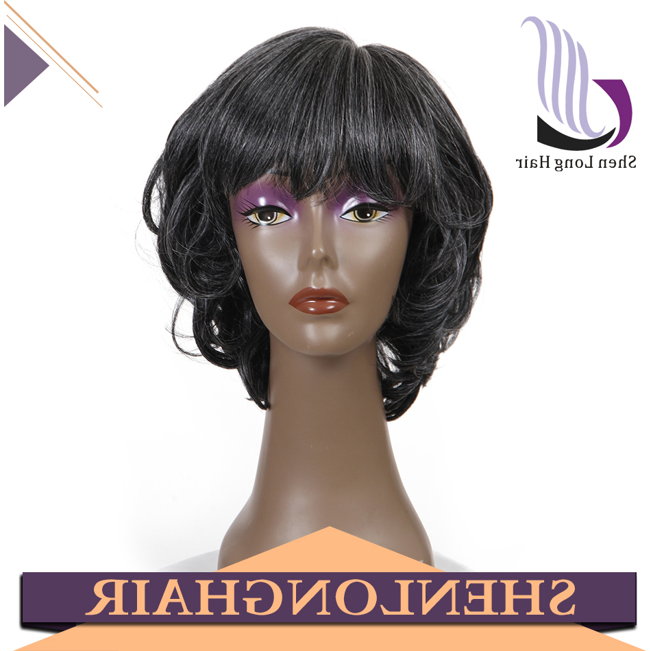 Cheap Short Curly Human Gray Hair Wigs For Black Men – Buy Js And With Regard To Short Haircuts For Gray Hair (View 19 of 25)