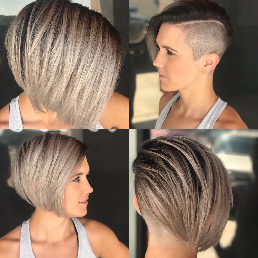 Check Out This Edgy Side Swept Blonde Undercut Bob And Find Other With Edgy Short Bob Haircuts (View 16 of 25)