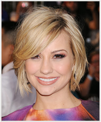 Chelsea Kane Hairstyles For A Heart Shaped Face | Information Within Sleek Blonde Bob Haircuts With Backcombed Crown (View 20 of 25)