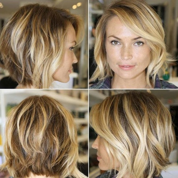 Chic Layered Bob Haircut With Side Swept Bangs – Hairstyles Weekly With Regard To Inverted Bob Hairstyles With Swoopy Layers (View 21 of 25)