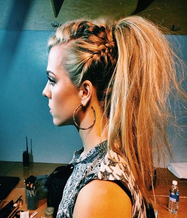 Chic Ponytail Styles To Spice Up Your Typical Summer Do | Bang Salon Intended For Braided Glam Ponytail Hairstyles (View 19 of 25)