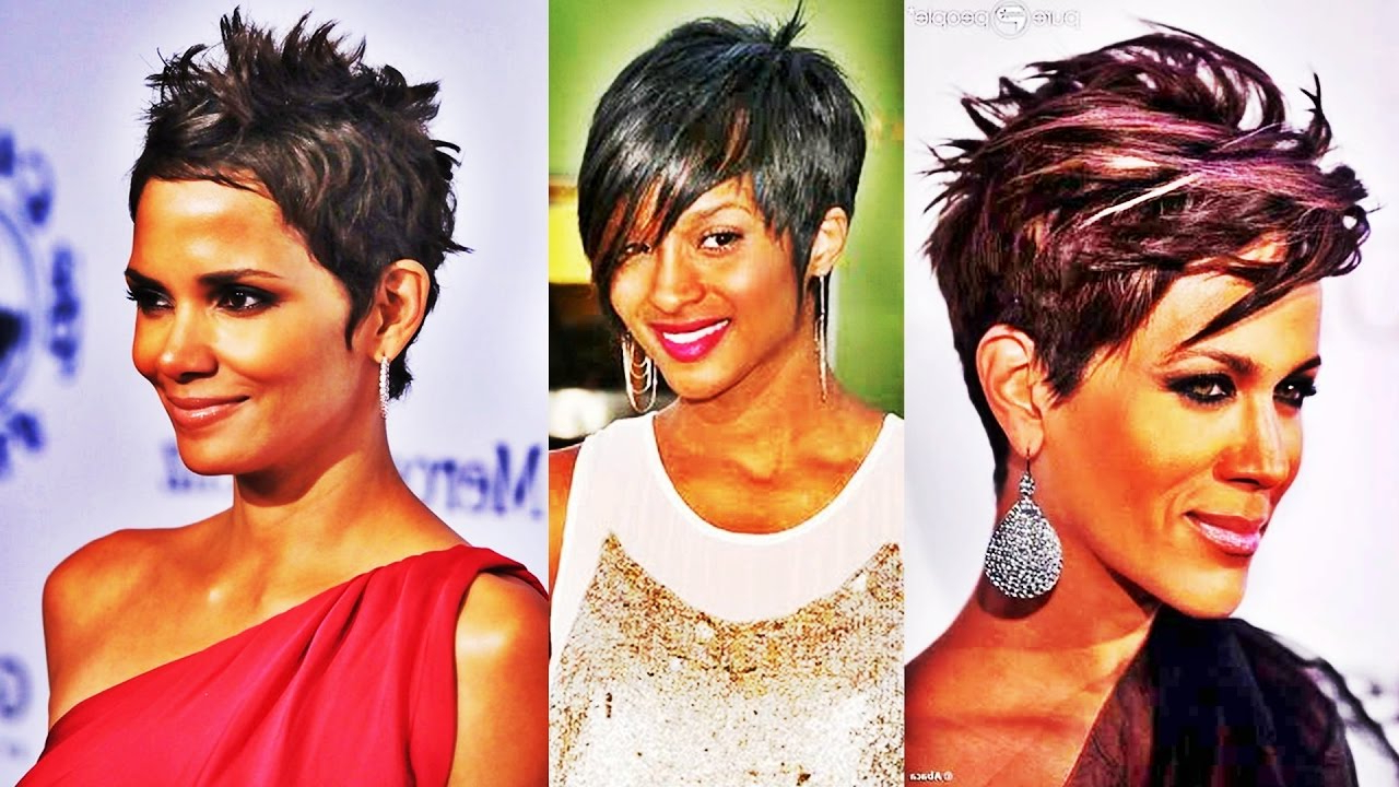 Chic Short Straight Hairstyle Short Hairstyles For Black Women 2017 Inside Edgy Short Haircuts For Black Women (View 17 of 25)