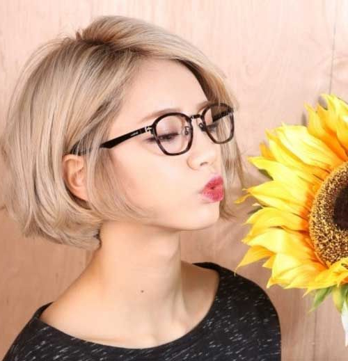 Chin Length Blonde Bob | Cute Hair In 2018 | Pinterest | Hair, Hair Throughout Messy Jaw Length Blonde Balayage Bob Haircuts (View 11 of 25)