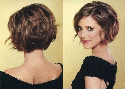 Chin Length Hairstyle Wavy Hair   Of Cute Hairstyles For Curly Hair Throughout Adorable Wavy Bob Hairstyles (View 2 of 25)