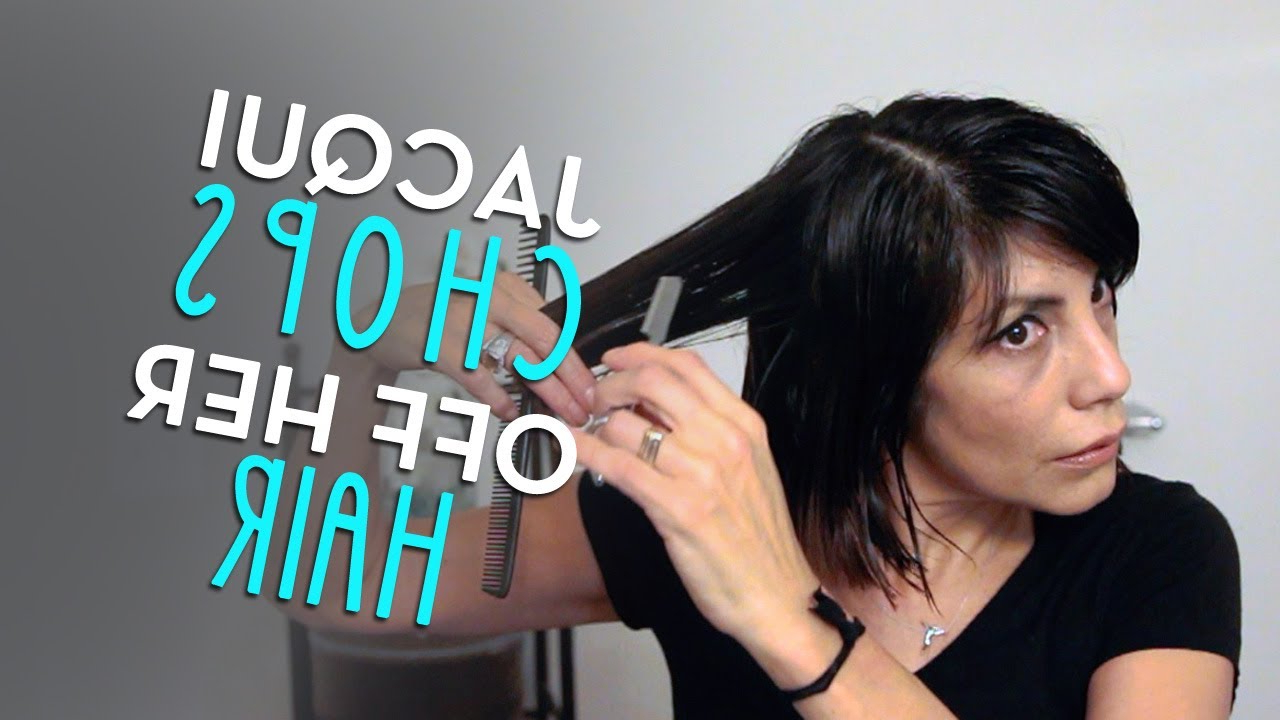 Choppy Bob 2014Jacqui Davis (From Long To Short Hair Cut) – Youtube In Short Bob Hairstyles With Long Edgy Layers (View 21 of 25)