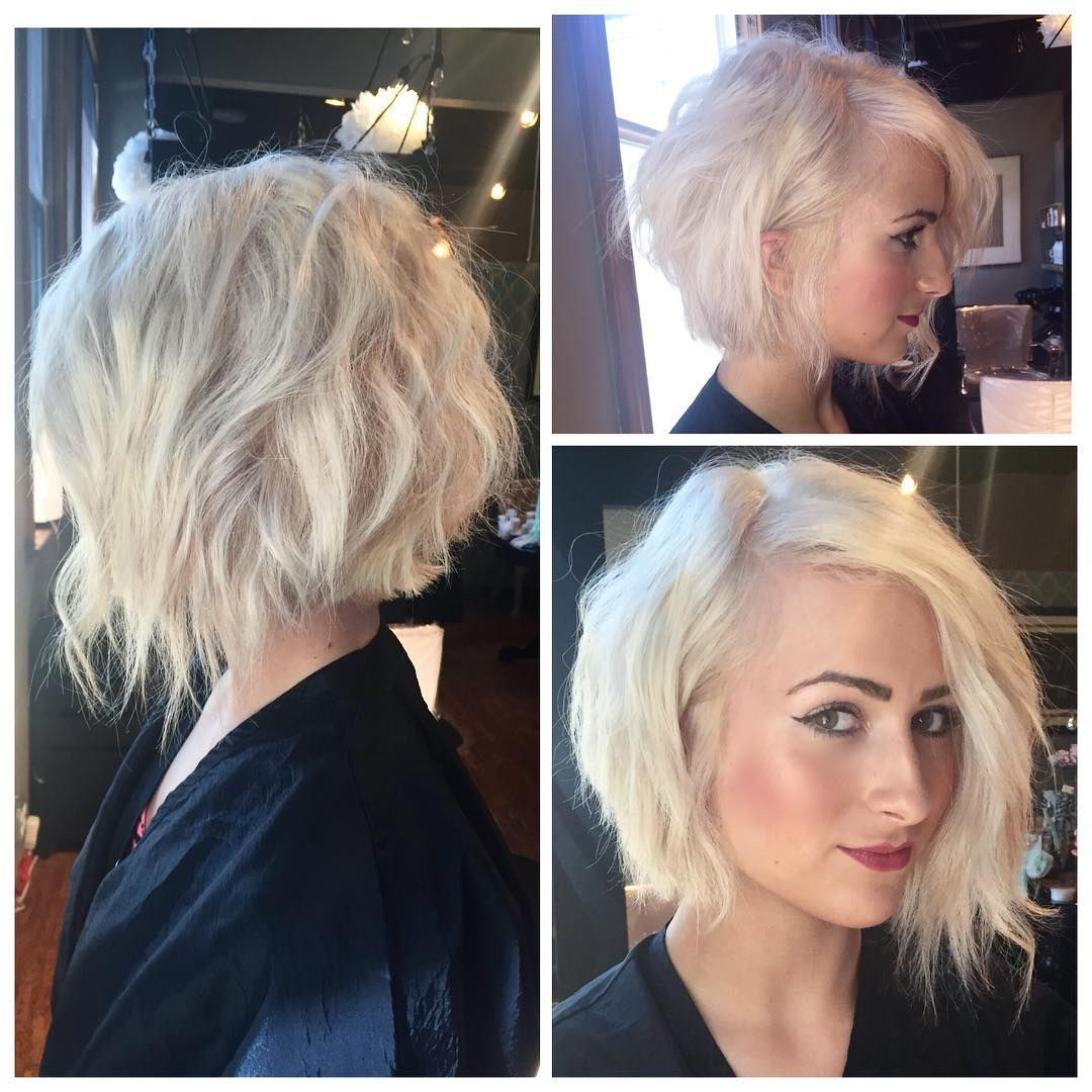 Choppy Layered Inverted Bob Haircut | Cabelos, Cortes | Pinterest Pertaining To Inverted Short Haircuts (View 8 of 25)