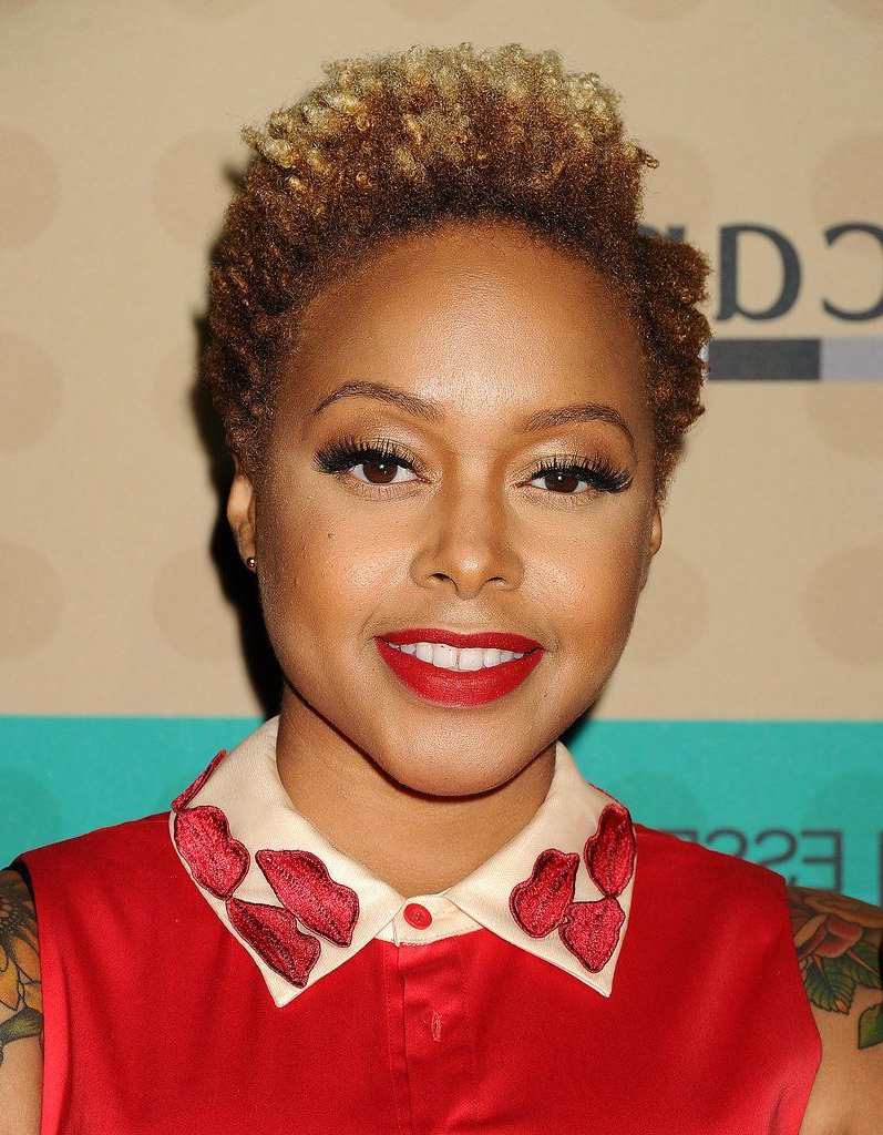 Chrisette Michele African American Short Hairstyle | Hair Pertaining To Afro Short Hairstyles (View 22 of 25)