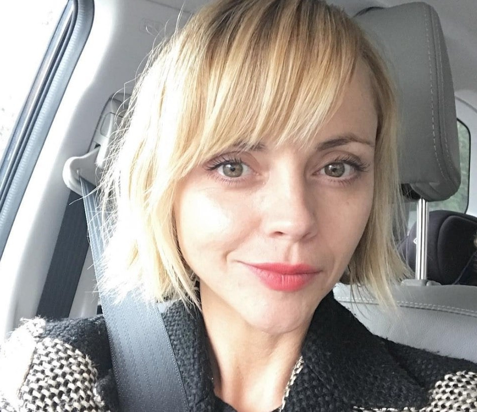 Christina Ricci Debuts Short Hair With A Side Fringe   All Things For Short Haircuts With Side Fringe (View 16 of 25)