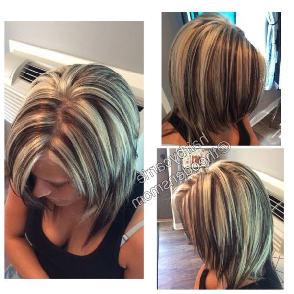 Chunky Highlights And Lowlights. Platinum Hair (View 6 of 25)