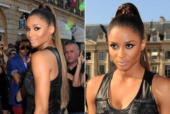 Ciara's High, Wrapped Ponytail | Ponytails | Pinterest | Hair Styles Throughout Wrapped High Ponytails (View 2 of 25)