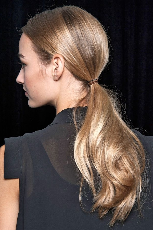 Classic Runway Hairstyles – Timeless Hair Trends Within Sculptural Punky Ponytail Hairstyles (View 18 of 25)