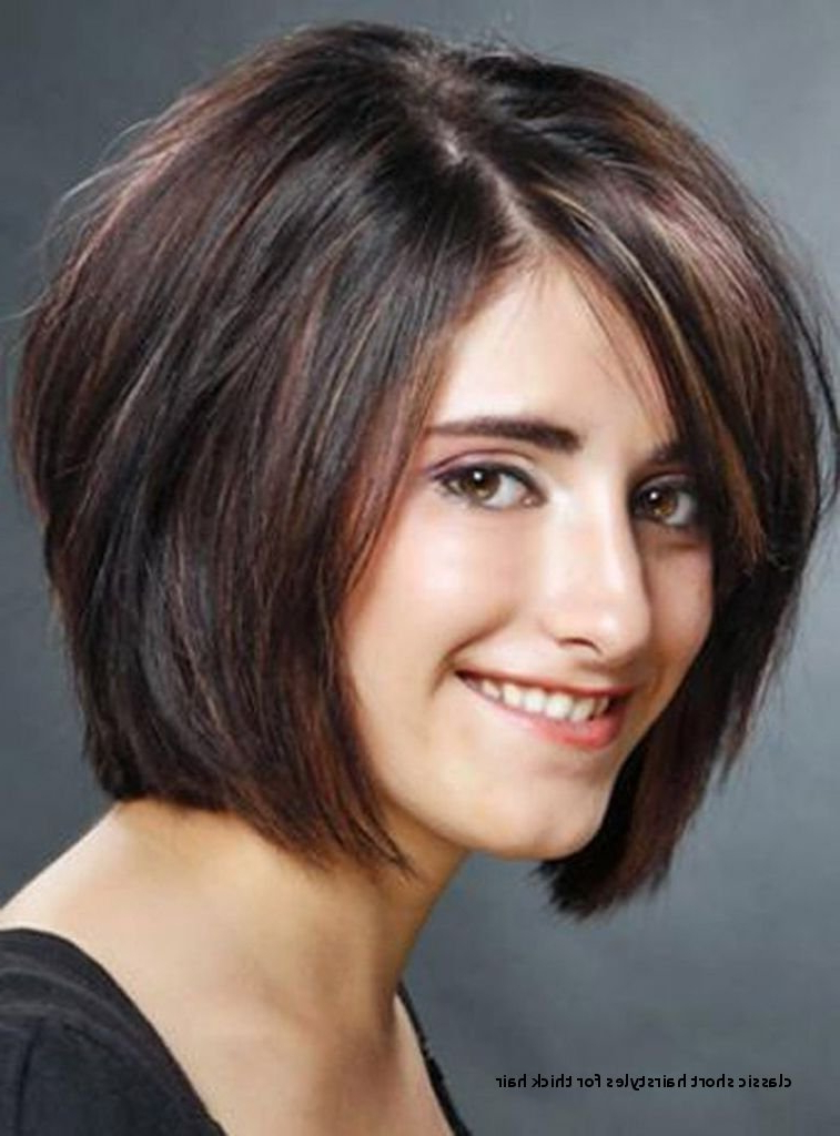 Classic Short Hairstyles For Thick Hair Short Hairstyles For Thick In Classic Layered Bob Hairstyles For Thick Hair (View 20 of 25)