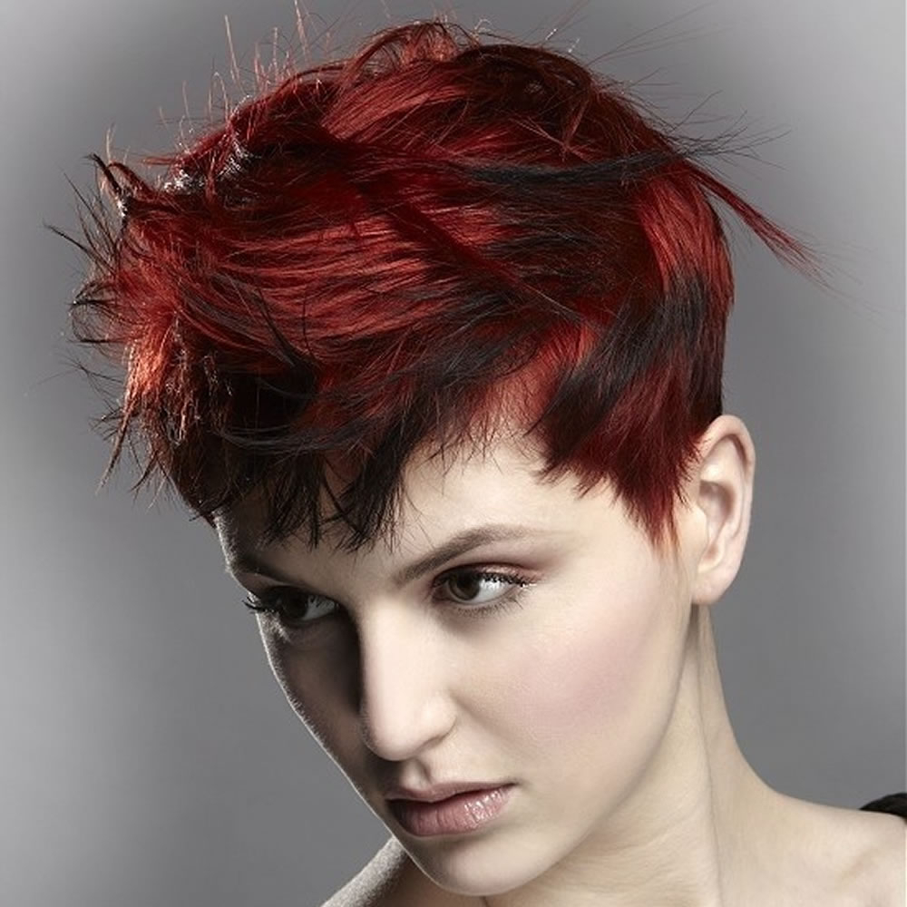 Classy Red Hair Color 2018 Short Hairstyles For Girls With Diamond Inside Short Hairstyles With Red Hair (View 10 of 25)