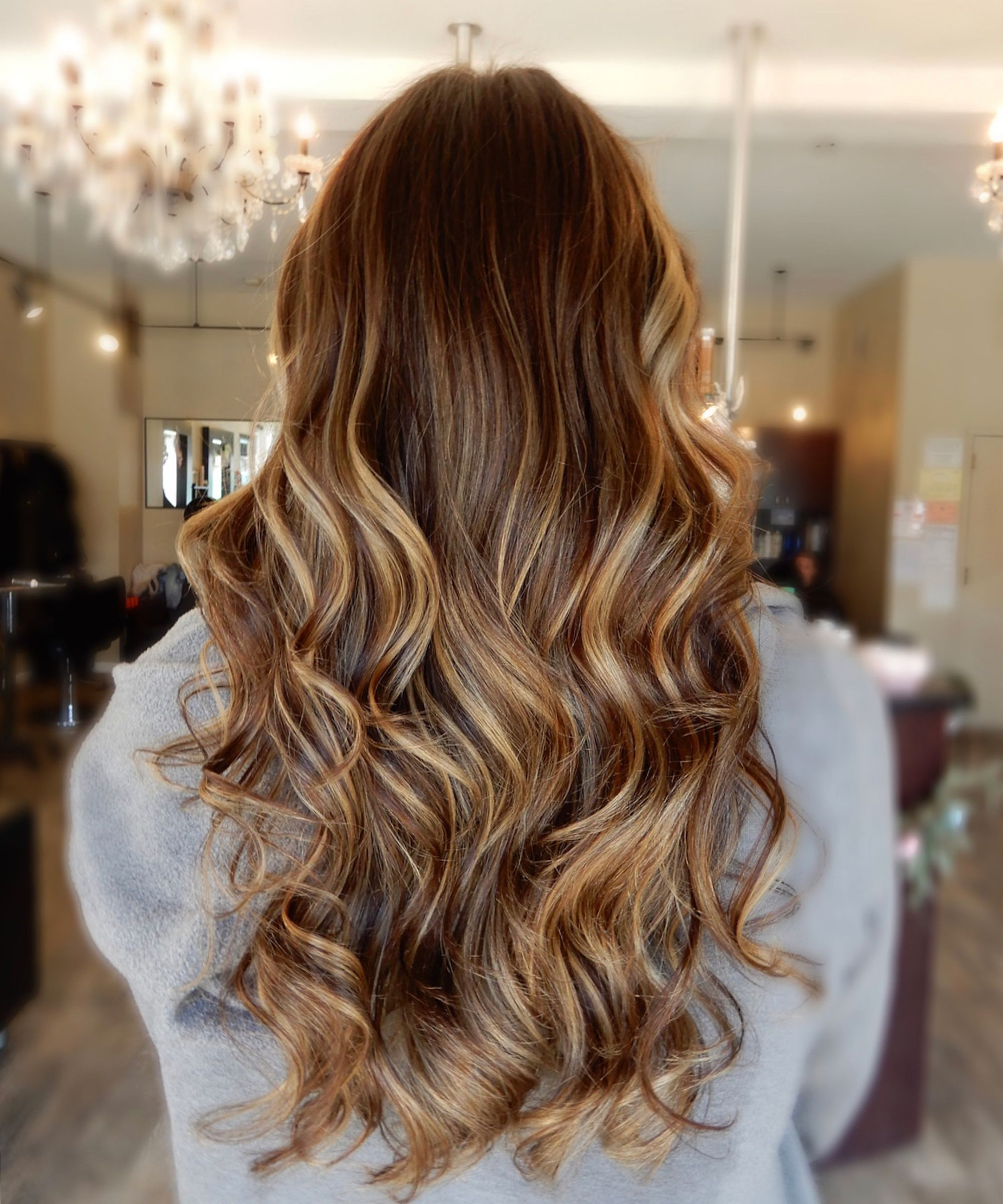 Cold Brew Hair Color Is Trending For Fall 2018 For Soft Brown And Caramel Wavy Bob Hairstyles (View 23 of 25)