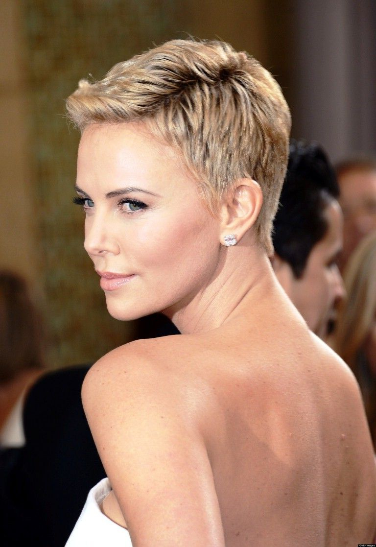 Cool Charlize Theron Short Hair   Hairstyles In 2018   Pinterest Pertaining To Charlize Theron Short Haircuts (View 16 of 25)