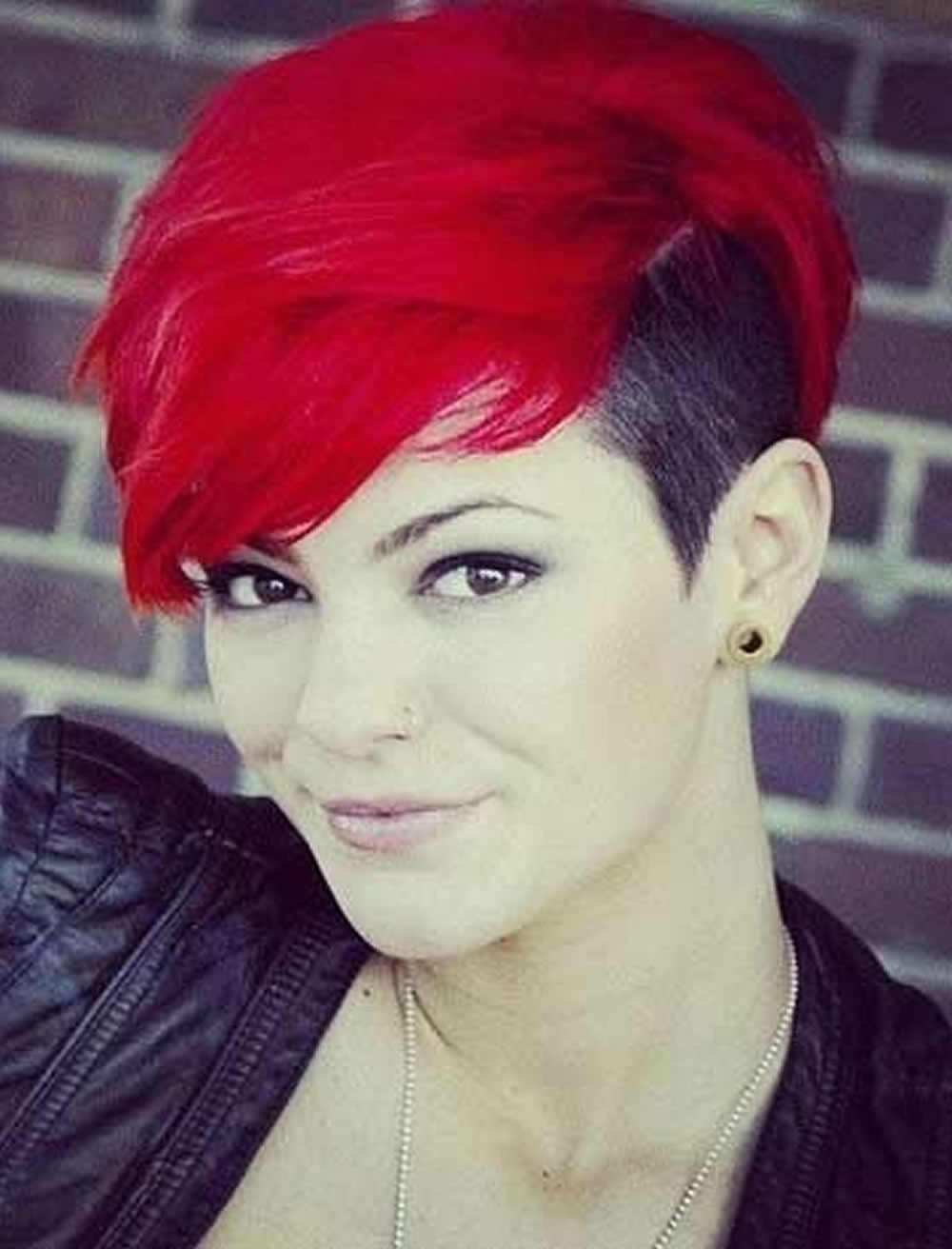 Cool Red Hair Colors Undercut Short Hairstyles – Hairstyles With Red Short Hairstyles (View 22 of 25)