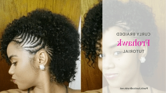Cornrow Style Refresh: Frohawk Ponytail Twisted Bun Braided Diva Within Twisted Front Curly Side Ponytail Hairstyles (View 18 of 25)