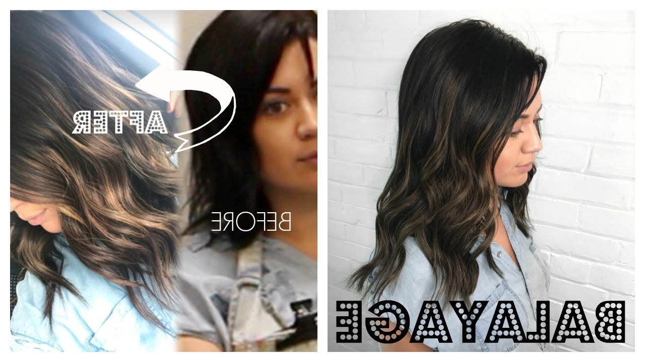 Create A Balayage Using Only Hair Extensions (On Short Hair) – Youtube Pertaining To Short Hairstyles With Balayage (View 22 of 25)