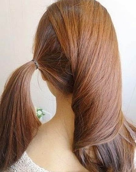 Creative Ideas – Diy Easy Twisted Side Ponytail Hairstyle Pertaining To Creative Side Ponytail Hairstyles (View 6 of 25)