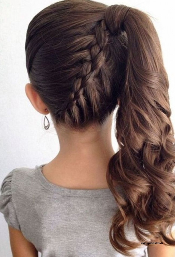 Creative Side Pony With Braid Hairstyle For Little Girls To Attend With Creative Side Ponytail Hairstyles (View 18 of 25)