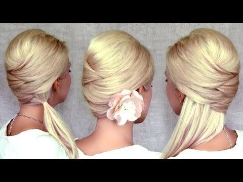 Criss Cross Hairstyles For Medium And Long Hair: Half Up Half Down Inside Criss Cross Side Ponytails (View 21 of 25)